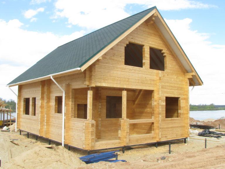 Строительство дома из бруса пошаговое от фундамента до крыши